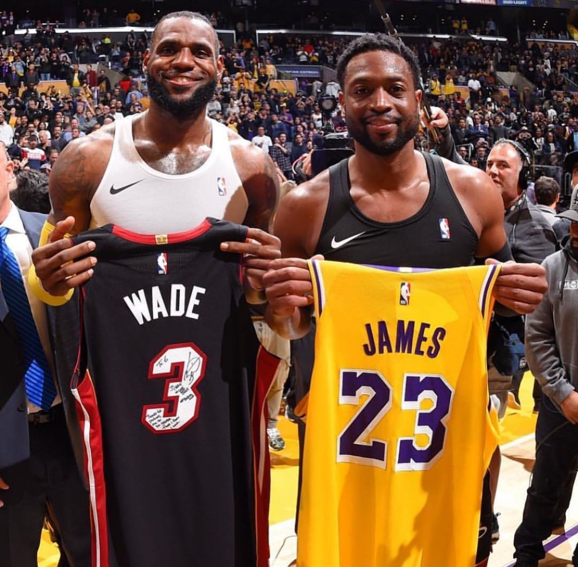 5af305be4a0 LeBron and Wade switch jerseys after there last game against each other.  What a brother good, respect. LeBron finishes there rival 16 wins to Wade's  15.