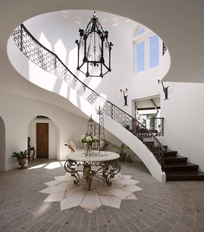 Suzie: Spanish Style Home With 2-story Foyer, Marble Top