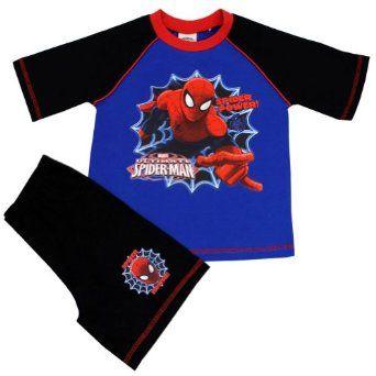 Spiderman Pyjamas   Spiderman Short PJ   From Age 4 to 10 Years: Amazon.co.uk: Clothing £5.95