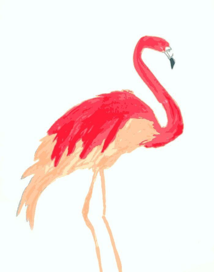 Flamingo Art {free printable