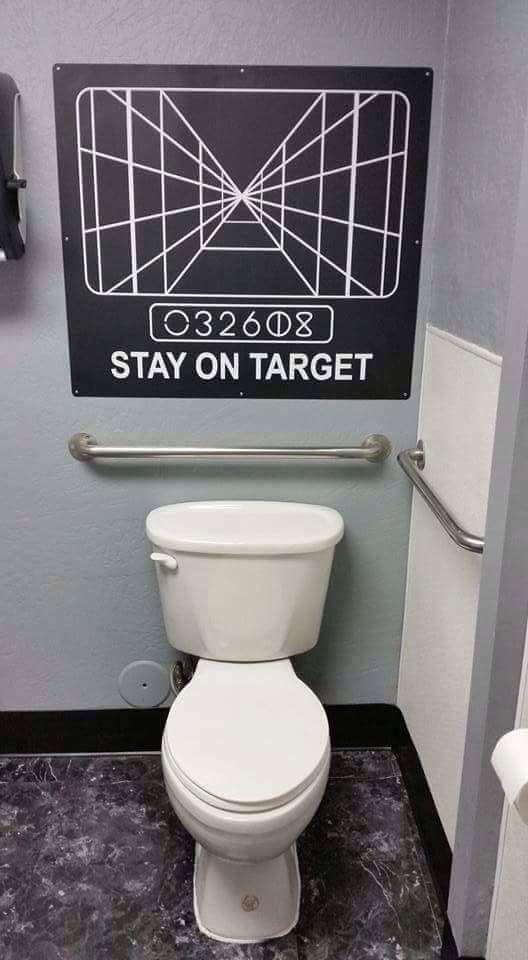 Stay On Target R Pics Star Wars Bathroom Star Wars Bathroom Decor Star Wars Room