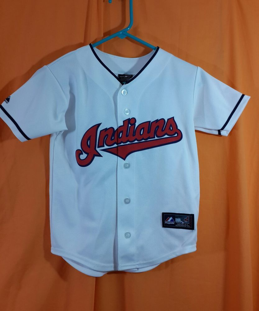 reputable site b7d37 4aae8 Cleveland Indians Youth Baseball Jersey sz S #33 Swisher ...