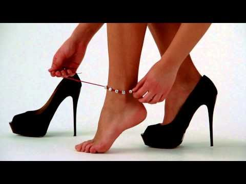 Bracelet, necklace and anklet with a single object...Mikyri Fashion Design. #accessories #bracelets #necklace #anklet #tutorial #mikyri #youtube #swarovsky #handmade #italy #boutique #web