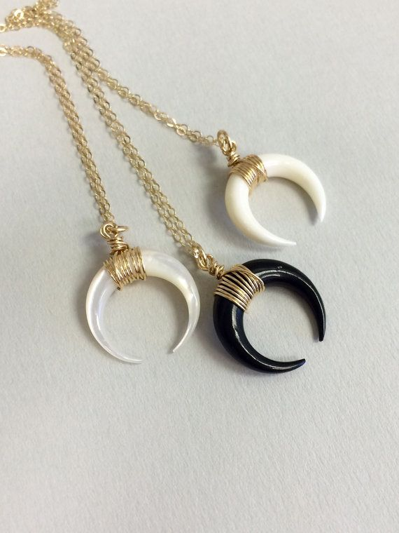 Free Gift Tribal Necklace Layering Necklace Single Claw  Horn  Necklace Horn Necklace