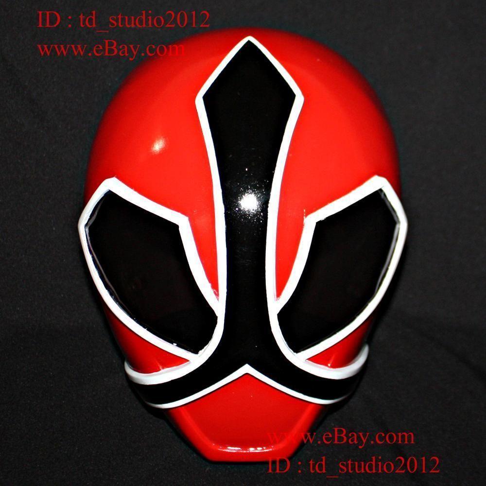 11 Costume Cosplay Mask Power Ranger Samurai Sentai Shinkenger Red