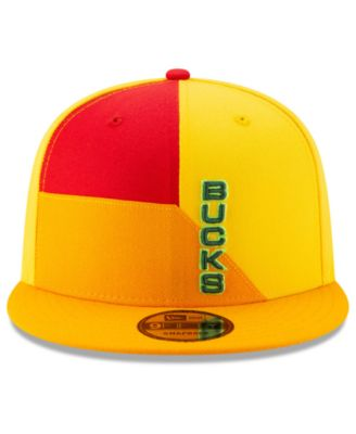 sneakers for cheap 69ea7 612af New Era Milwaukee Bucks City Series 2.0 9FIFTY Snapback Cap - Yellow  Adjustable