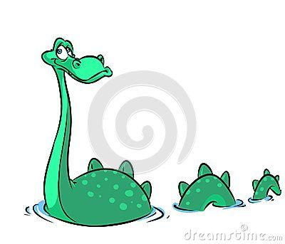 Loch Ness Monster Cartoon Illustration Loch Ness Monster Cartoon Illustration Dinosaur Clip Art