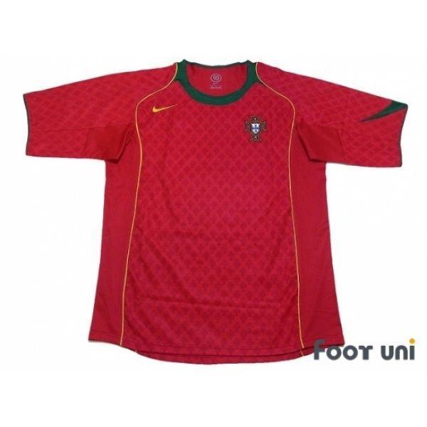 Photo1: Portugal Euro 2004 Home Shirt - Football Shirts,Soccer Jerseys,Vintage Classic Retro ...