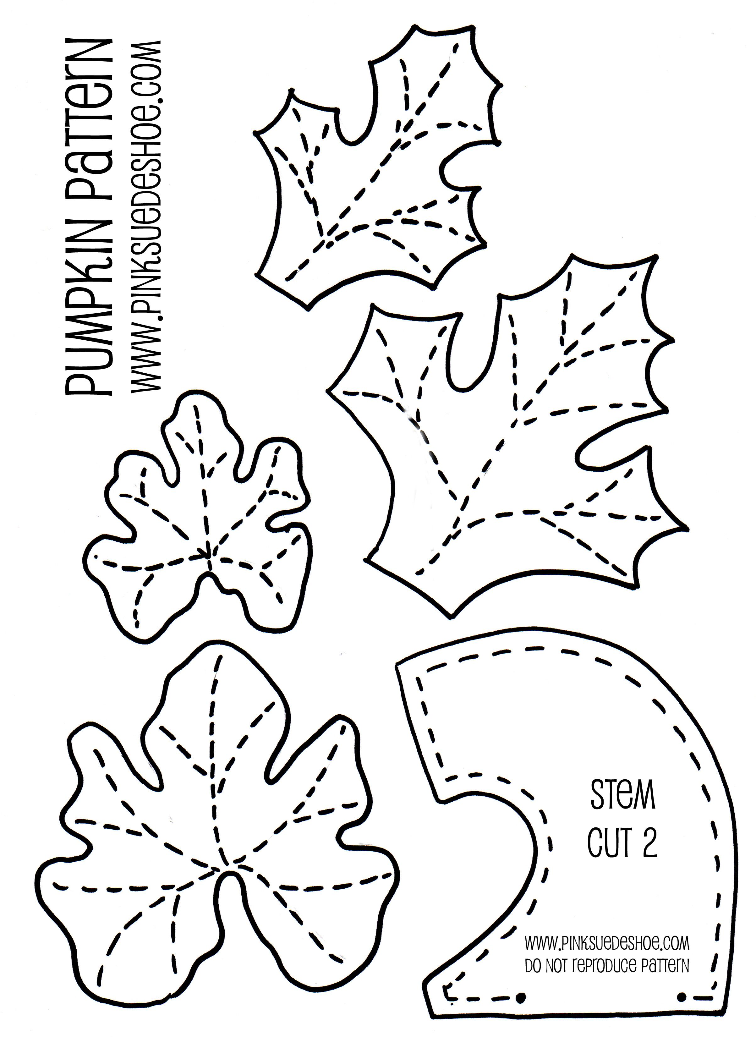 Leaves and ooooo to go with the pumpkin pattern for Pumpkin leaves coloring pages