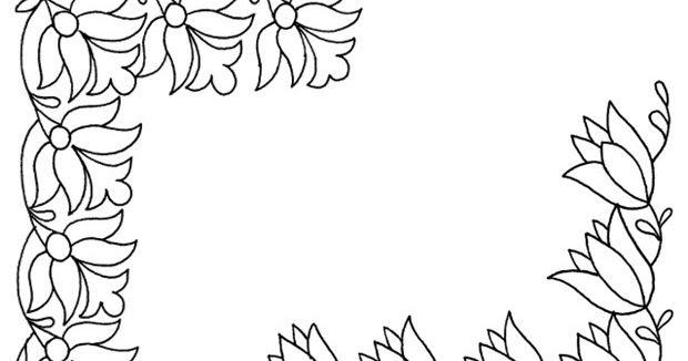 Gambar Bunga Yang Mudah Diwarnai Lukisan Bunga Bunga Gambar