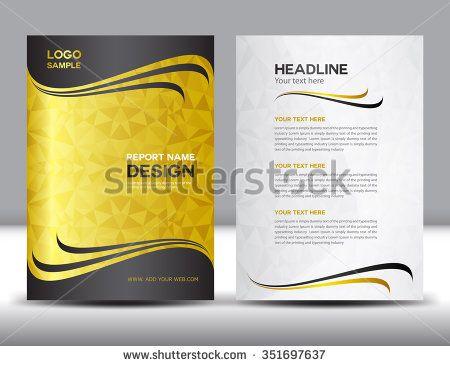 gold Annual report Vector illustration,cover design,brochure flyer - sample company newsletter