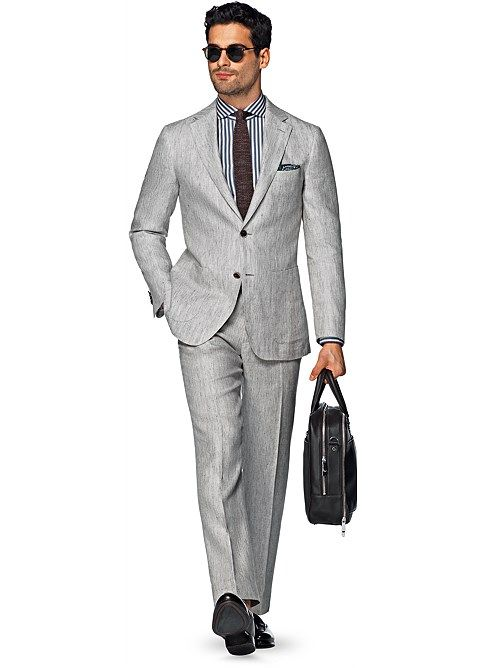 Suit Light Brown Herringbone Havana P4800 | Suitsupply Online ...