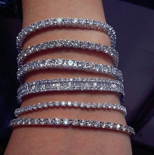 Bildergebnis für pinterest; bracelets with diamonds