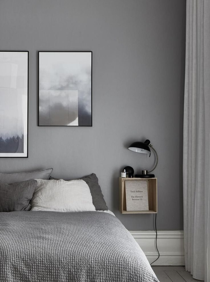 Stylish Home In Natural Colors Via Coco Lapine Design Blog Small Bedroom Interior Bedroom Interior Bedroom Night Stands Minimalist white gray room paint