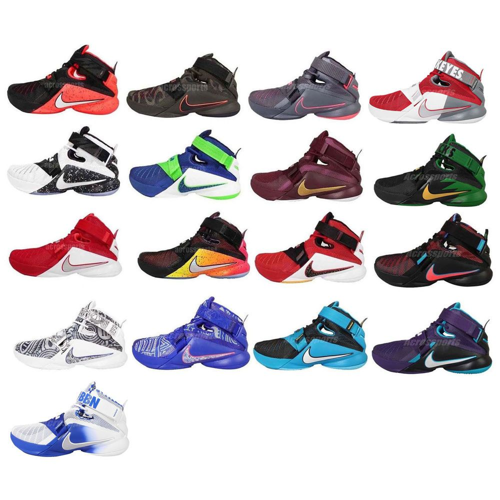 c789f8358499 Nike Lebron Soldier IX 9 PRM EP King Lebron James Mens Basketball Shoes  Pick 1  Nike  BasketballShoes