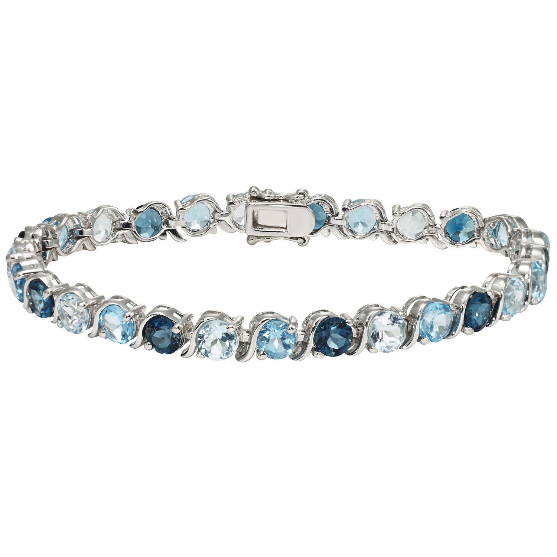 Sterling Silver Blue Topaz Bracelet Sam S Club I Want This So