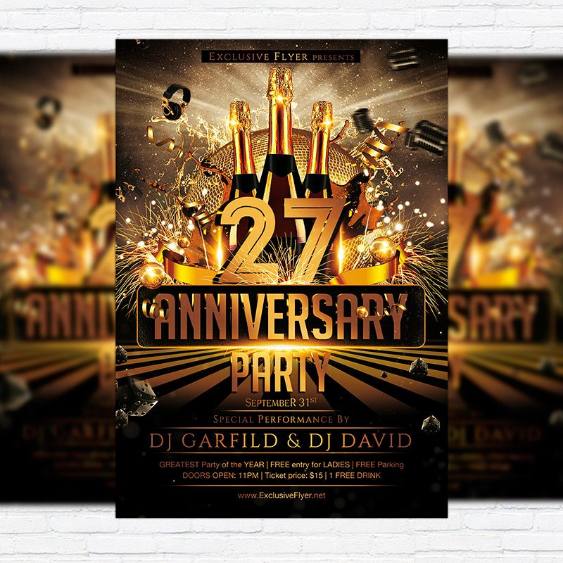 Anniversary Party  Premium Flyer Template  Facebook Cover Http