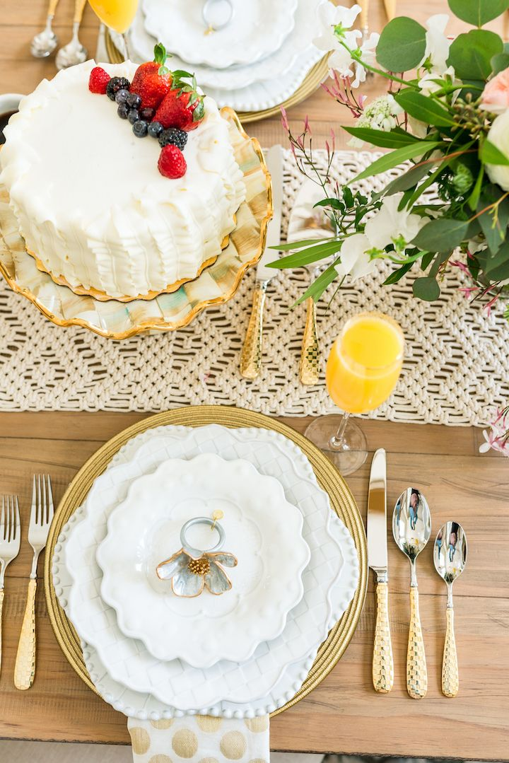 Bridal Brunch Table Setting with MacKenzie-Childs | Pinterest ...