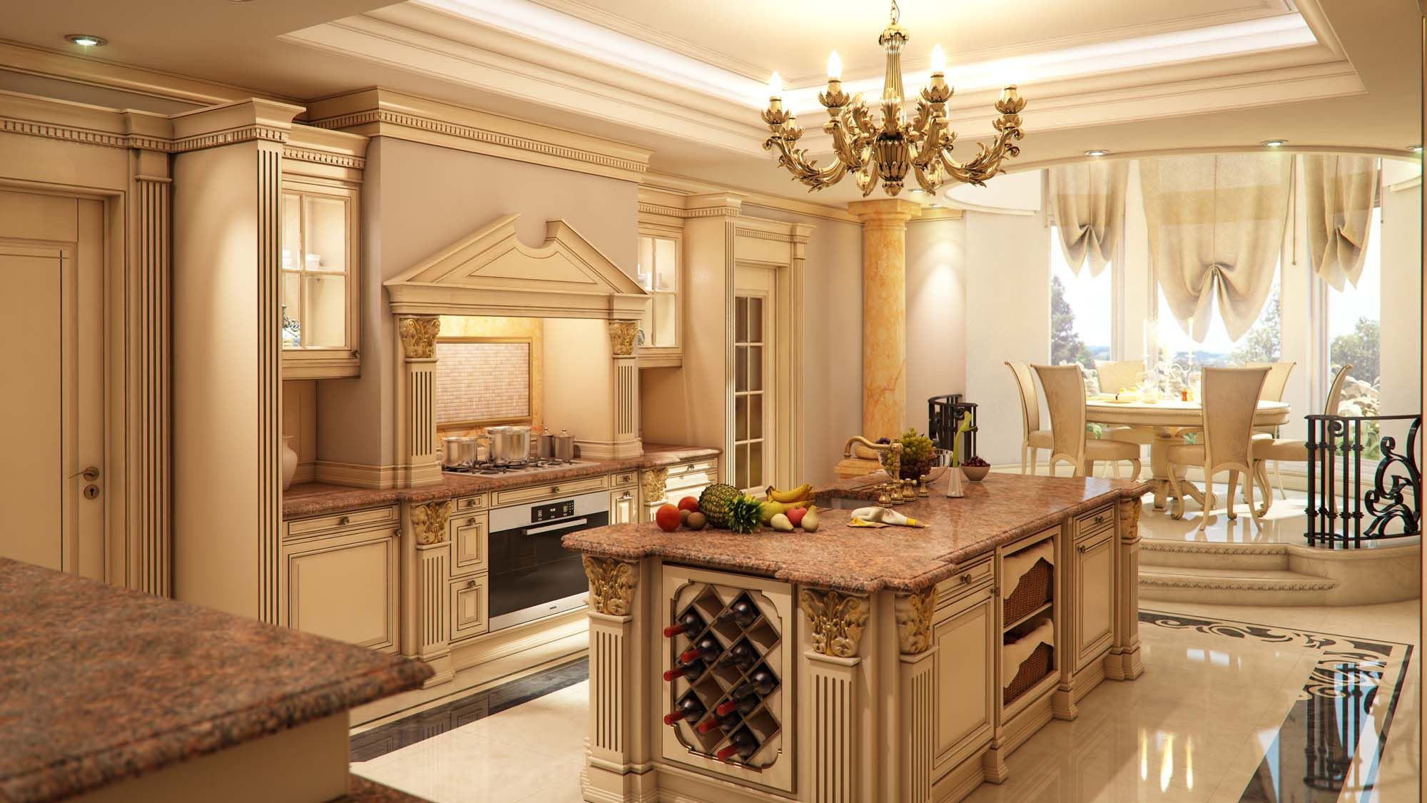 Classy Luxury Kitchen Create An Exceptional Decorating Level With Beautiful Bathroom Living Rooms Pools Kitchens A Living Room Styles Luxury Kitchens Home Decor