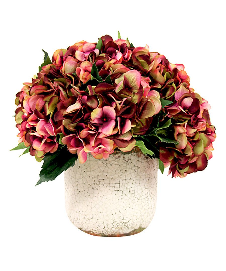 Look at this Hydrangea Arrangement & Cream Pot on #zulily today!