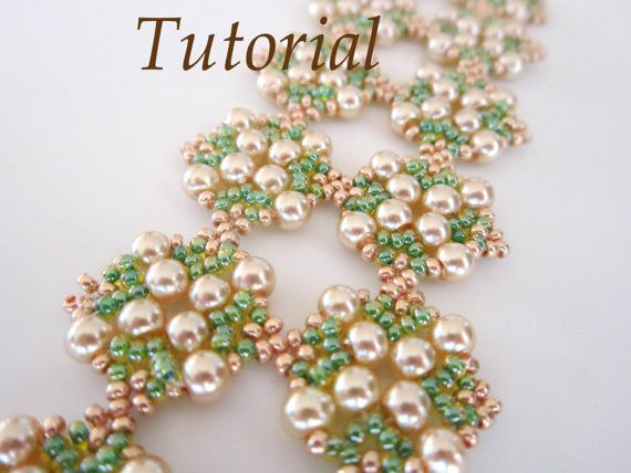 PDF for beaded bracelet Warm Day beading tutorial  di BeadsMadness