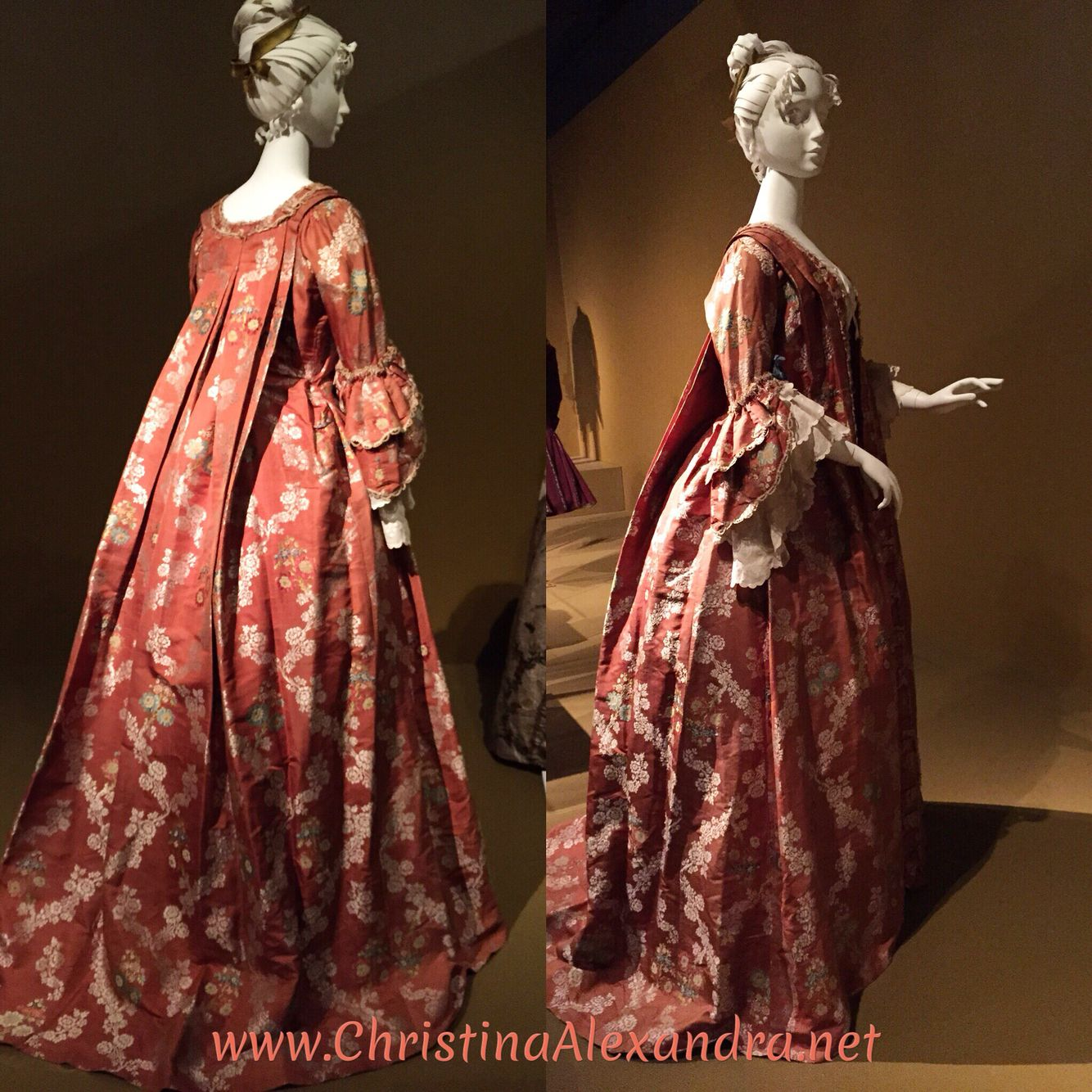 Gown Robe Volante Europe 1740s Brocaded Silk A Transitional Style Between The Tent Like Ve 18th Century Fashion 18th Century Dress 18th Century Clothing