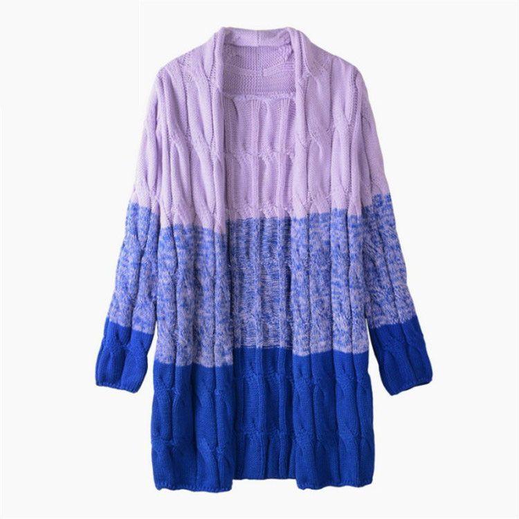 Women Sweater Long Cardigan 2016 Fashion Autumn Winter Style Long Sleeve Warm Sweaters Twist Cardigan female Sweaters Long Coat