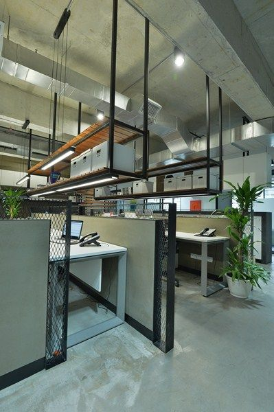 Industrial with eco chic loft concept office design in pj for Loft office design