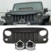 Jeep Jk Projector Headlights Halo Eagle Eye Grille Combo Pack Jeep Grill Jeep Jk Jeep Wrangler Accessories
