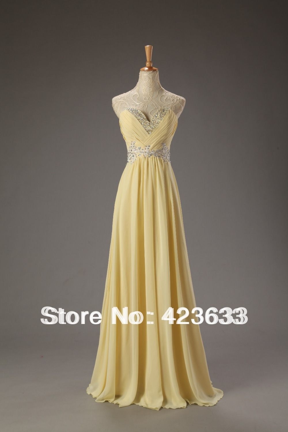 Dresses chiffon light yellow dress prom dress prom dresses
