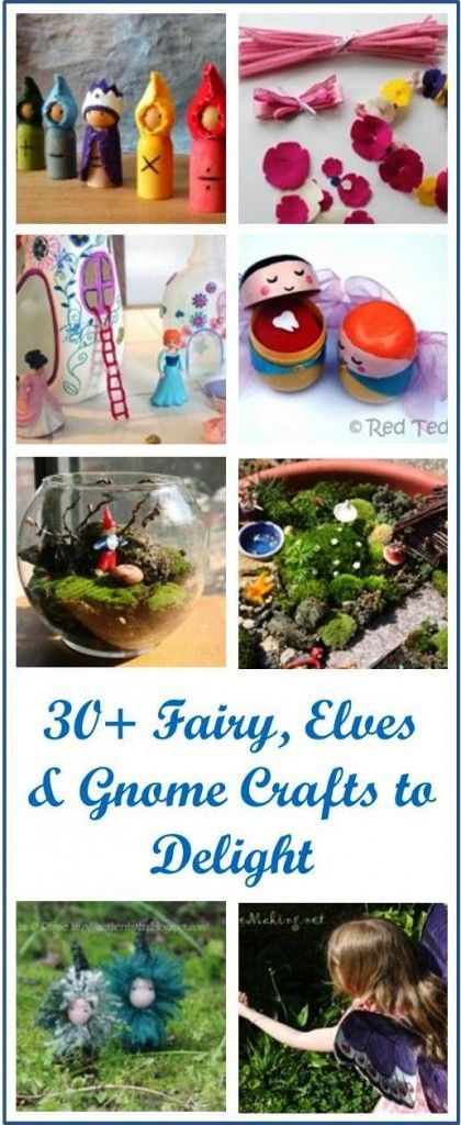 30 Fairy crafts to delight and get you ready for Midsummer!  Many of these are not doable for young children, but some are. #fairies