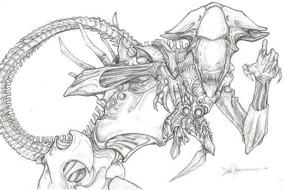 Alien Xenomorph Queen Poster Print Chris Oz by ...