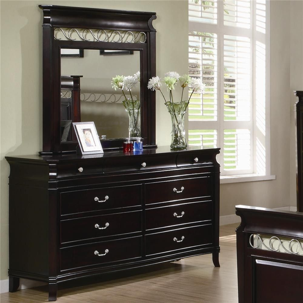 Coaster manhattan dresser with 9 drawers and mirror in bedroom jpg 1000x 1000