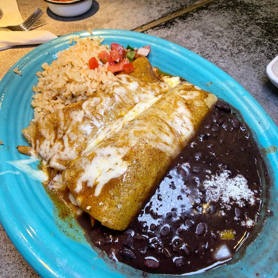 The Chicken Enchiladas How Do You Eat Your Rice And Beans I Ve Always Wondered This 303eats 303magazine 5280 5280eats Colorado Food Food Eat
