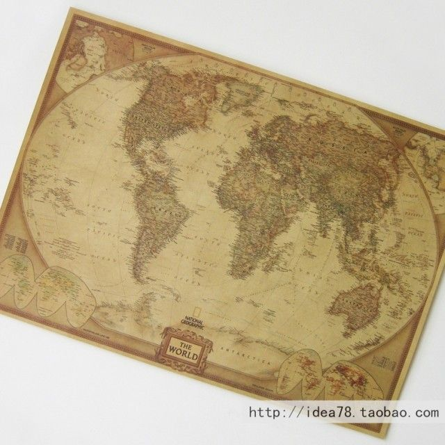 Small brown paper and old world map poster personalized retro small brown paper and old world map poster personalized retro decorative painting core wholesale 42 gumiabroncs Choice Image