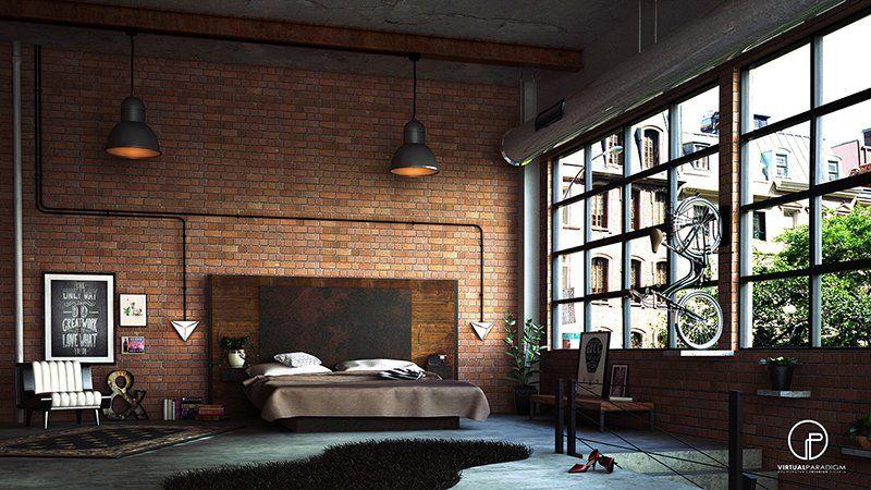 22 Mind Blowing Loft Style Bedroom Designs Exposed Brick Bedroom