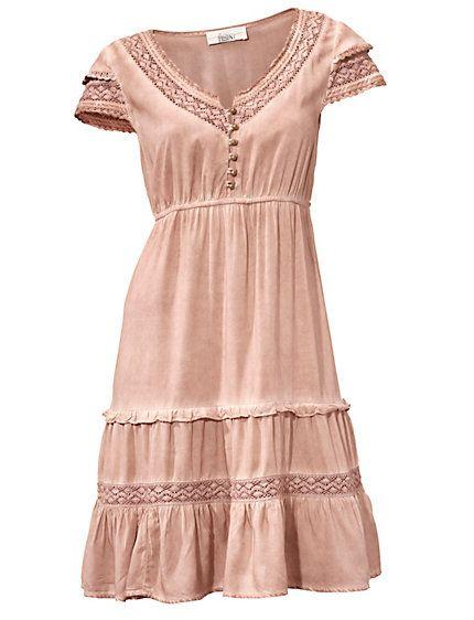 linea tesini spitzenkleid ros im heine online shop kaufen romantische kleider pinterest. Black Bedroom Furniture Sets. Home Design Ideas
