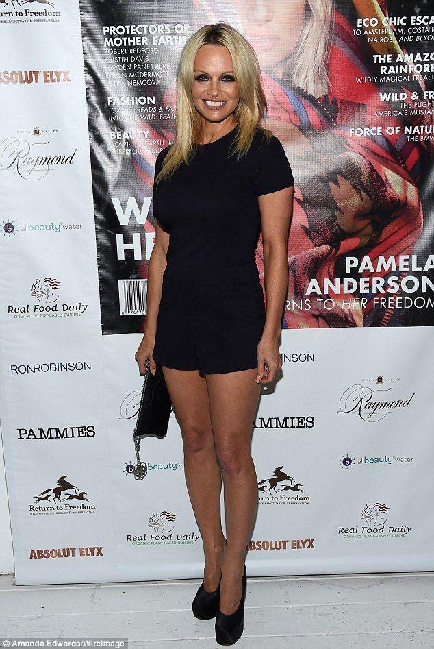 Pamela anderson black dress