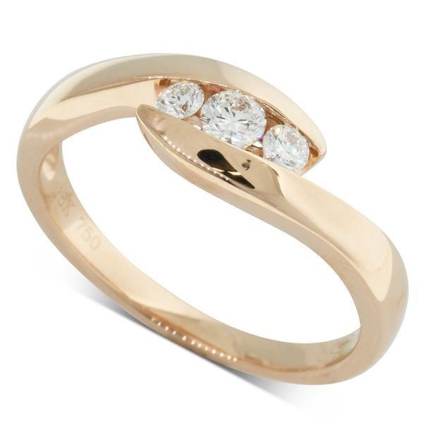18ct Rose Gold 24ct Diamond Solstice Ring Walker Hall Rings
