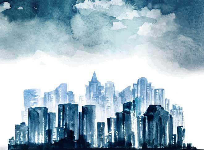 2016 Creative Trends | City vector, Night city, Watercolor ...