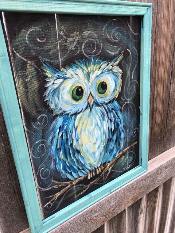 Owl Always Love you Owl paintingOriginal hand painting on ...
