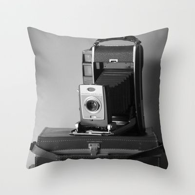 Polaroid Land Camera Throw Pillow by Veronica Ventress - $20.00