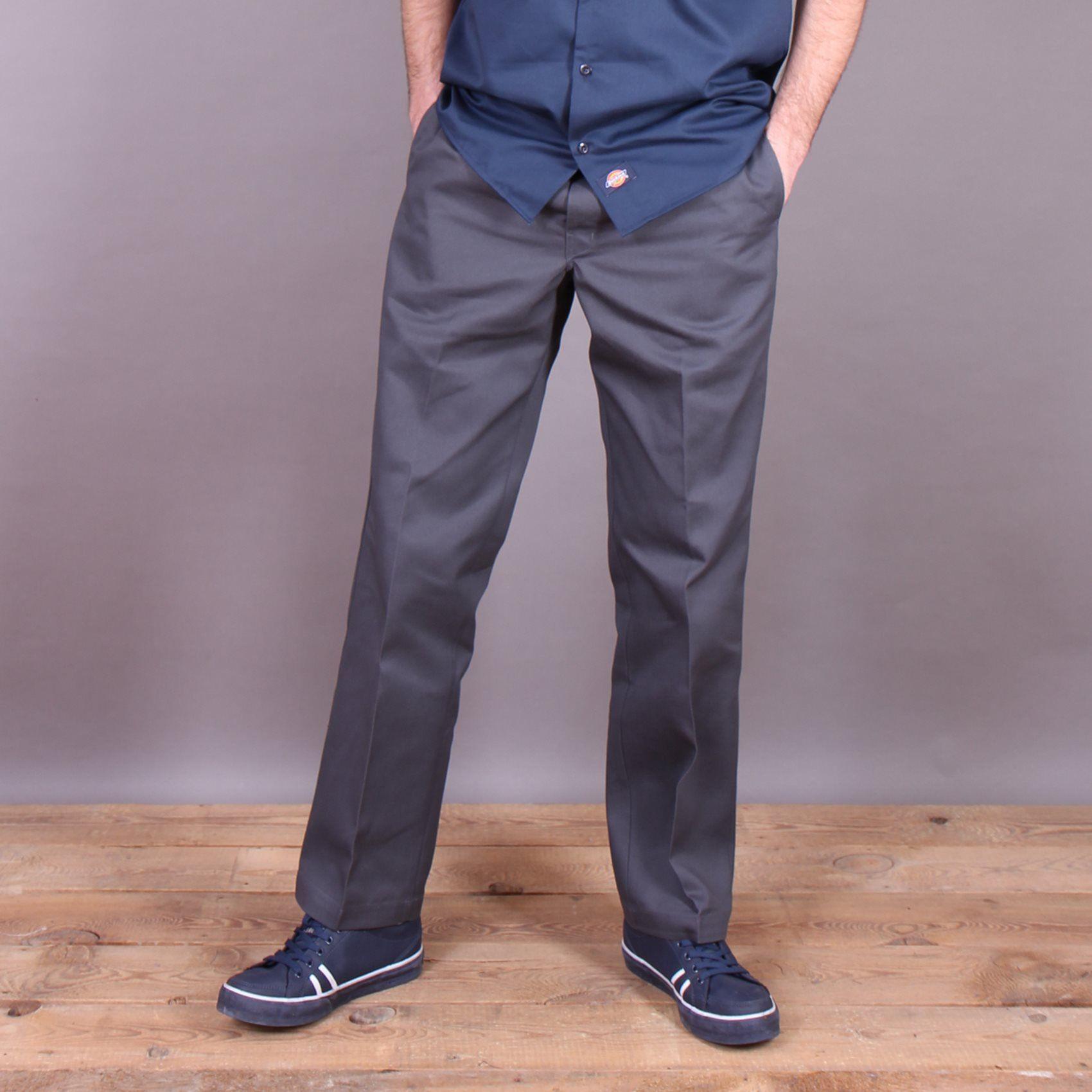 Chinosy spodnie męskie Dickies Original 874 Work Pant Charcoal - grafitowe