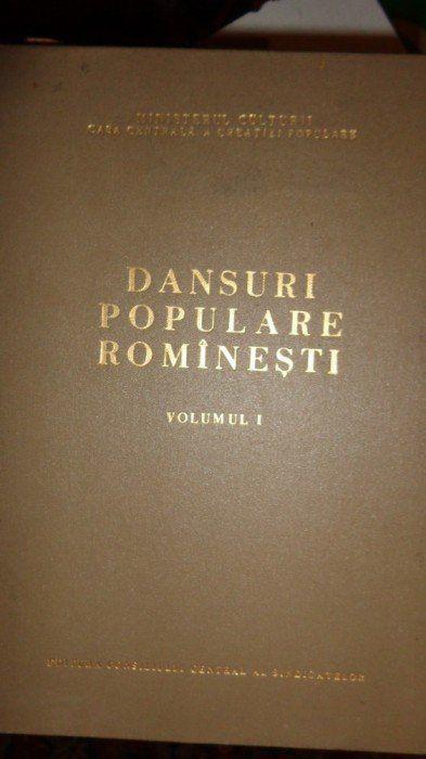 DANSURI POPULARE ROMANESTI VOL.1/ AN1956/167PAG= foto mare