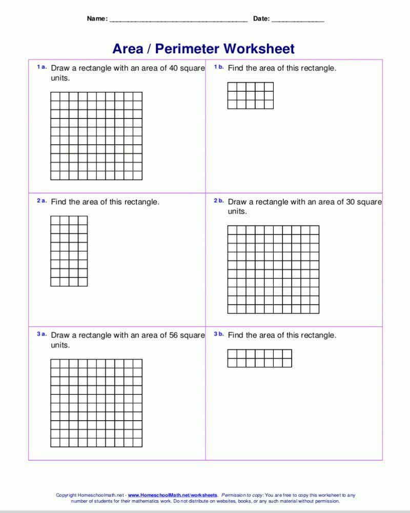 Perimeter Worksheets 3rd Grade   Perimeter worksheets [ 1000 x 800 Pixel ]