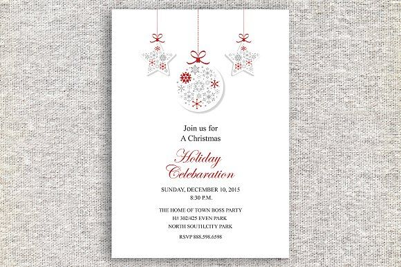 Christmas Celebaration Card IV02 by Madhabi Studio on @creativemarket