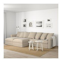 GRÖNLID Sectional, 4 Seat, With Chaise, Sporda Natural   With Chaise/Sporda  Natural   IKEA