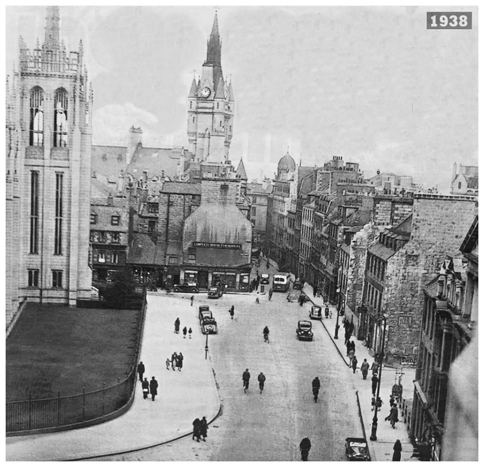Broad Street 1936 From Top Of Student Union Aberdeen Scotland Aberdeenshire City By The Sea