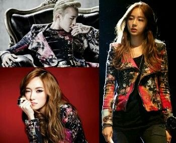 G-Dragon X Jessica Jung X Yoon Eunhye 👉 They're all so gorg!!! Can't really decide. But i'm amazed gd could deliver a floral pattern so manly and still swag!!