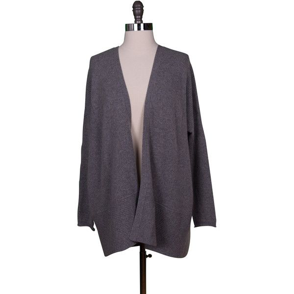 Velvet by Graham and Spencer Glenna Cashmere Cardigan ($220) ❤ liked on Polyvore featuring tops, cardigans, grey, gray boyfriend cardigan, long grey cardigan, long gray cardigan, cashmere boyfriend cardigan and boyfriend tank top